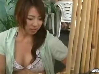 girl and wife have a sex massage by geek in beach