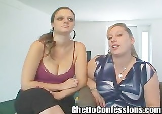 hooker sisters sharing a blowjob
