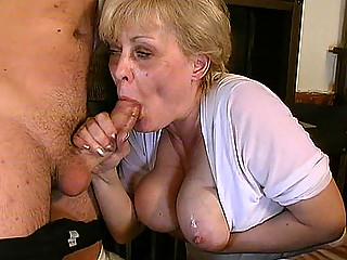 breasty granny in oral sex