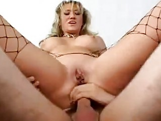busty blonde d like to fuck in fishnet hose