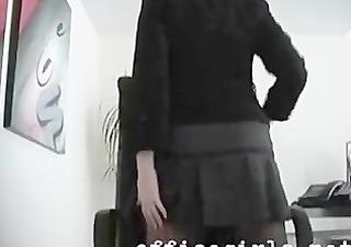 secretary doxy wearing seamless darksome hose