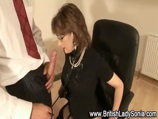 older brit lady sonia jizz flow