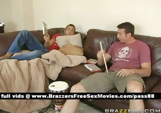 guys at home on the daybed bored