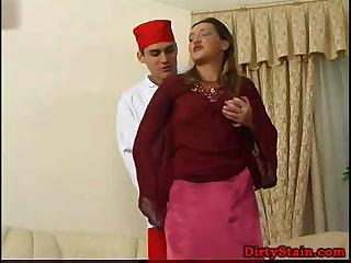 Lonely mom seduces her sons friend and fucks on