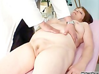 plump old mature mom acquires her pink