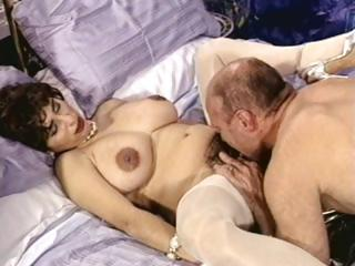 busty brunette older with hirsute love tunnel