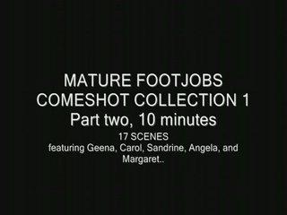 older footjob cumshots
