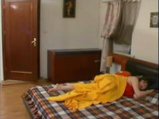 russian son bonks his sleeping mama