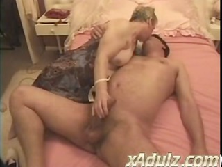 Chubby Granny Gets Turned on Watching Repair Men