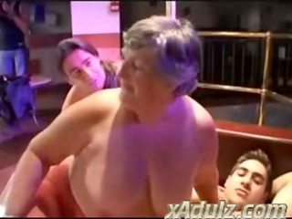 Fat Grannies Having Nasty Sex in a Strip Club