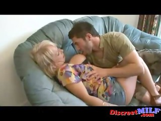 Slutty mom fuck her daughters boyfriend