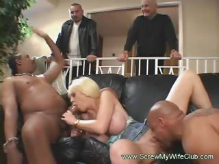 interracial anal some with golden-haired swinger
