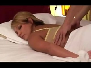 non-professional blond wife massaged by japanese