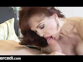Latin mature wife has her feet fucked big tits