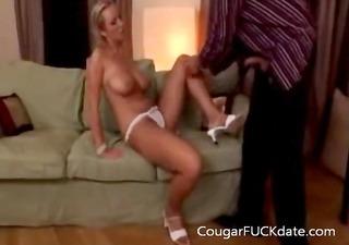 sexy busty cougar fucks a younger boy