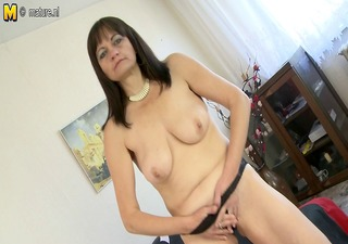 hairy housewife mother playing with herself