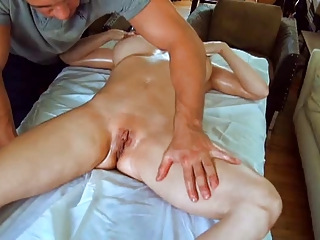 Sexy Mom Massaged then Pounded