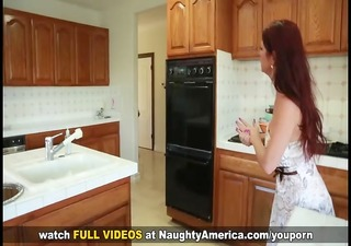 redhead cougar can taking her son's friend's