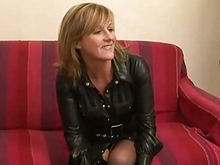 amateur french milf in a rough three-some