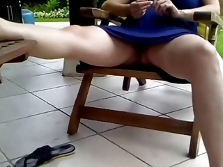 voyeur 48, a preggo mommy resting, no panties