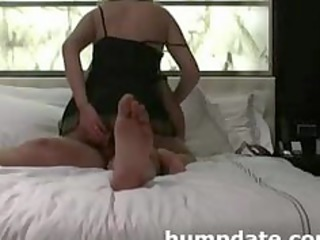 wife inserts toy in a-hole whilst she is gets