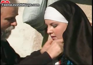 young breasty nun receives her muff drilled part4