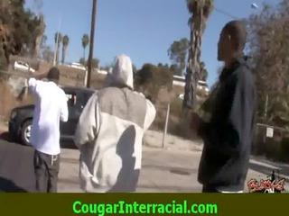 interracial sex - sexy cougar mother i receives