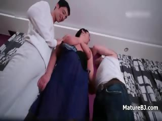 corpulent old older wife loves engulfing two