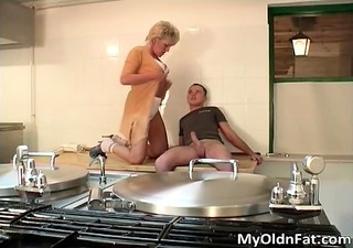 naughty fat blonde milf blows schlong part11