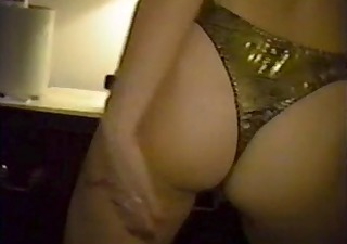 golden-haired slut stripping and flaunting her