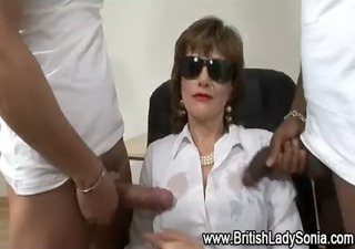 older interracial handjob ejaculation