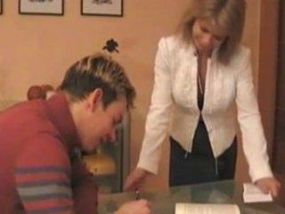 sexy german mommy teaches boy