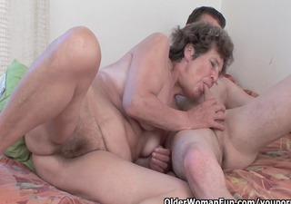 lustful granny acquires her shaggy asshole drilled