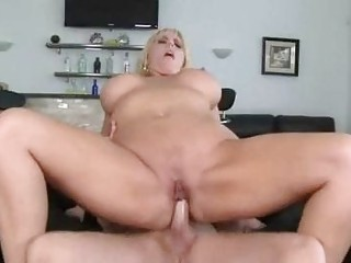 corpulent blonde momma with giant love melons