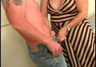 chubby landlord gives bj and lowers rent