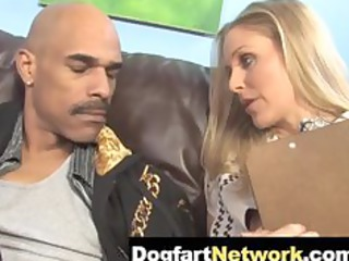 hawt cougar julia ann takes a huge darksome rod
